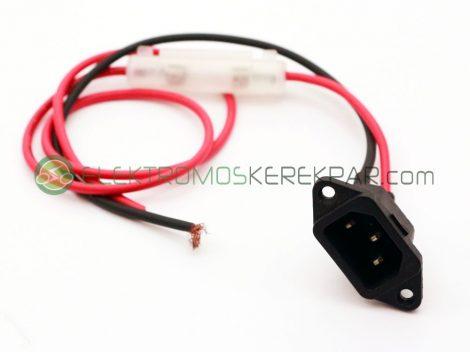Elektromos kerékpár töltő csatlakozó biztosítékkal (CK148447) - 06705125161