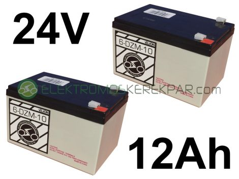 Elektromos kerékpár akkumulátor 6-dzm-10 12V 12Ah akció (CK352606) - 06705125161