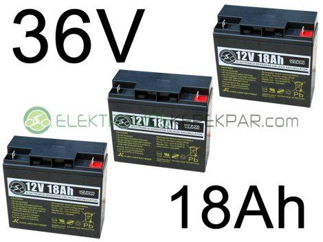 36V 18Ah elektromos kerékpár akkumulátor (6-DZM-18)