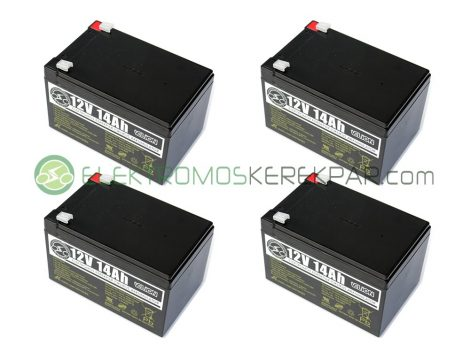 Elektromos kerékpár akkumulátor 6-dzm-14 12V 14Ah teljes választékban (CK410514) - 06705125161