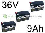 Elektromos kerékpár akkumulátor 6-dzm-9 12V 9Ah (CK600421) -  06705125161
