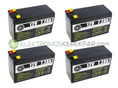 Elektromos kerékpár akkumulátor 6-dzm-7 12V 7Ah (CK843058) -  06705125161
