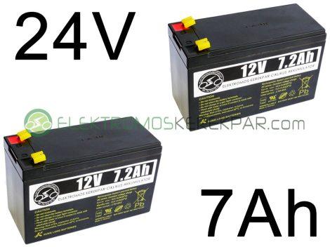 Elektromos kerékpár akkumulátor 6-dzm-7 12V 7Ah (CK875250) -  06705125161