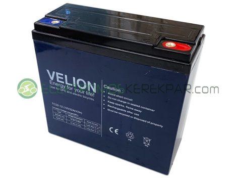 12V 22Ah elektromos kerékpár akkumulátor (VELION)