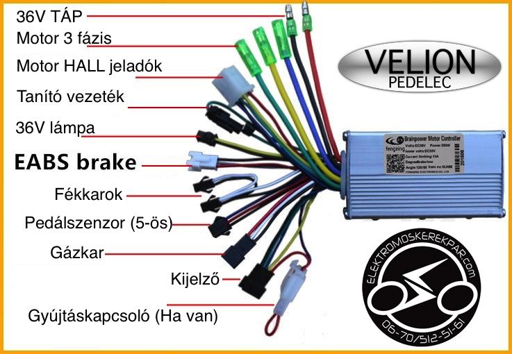 Pedelec vezérlő elektronika - VELION - CK325000